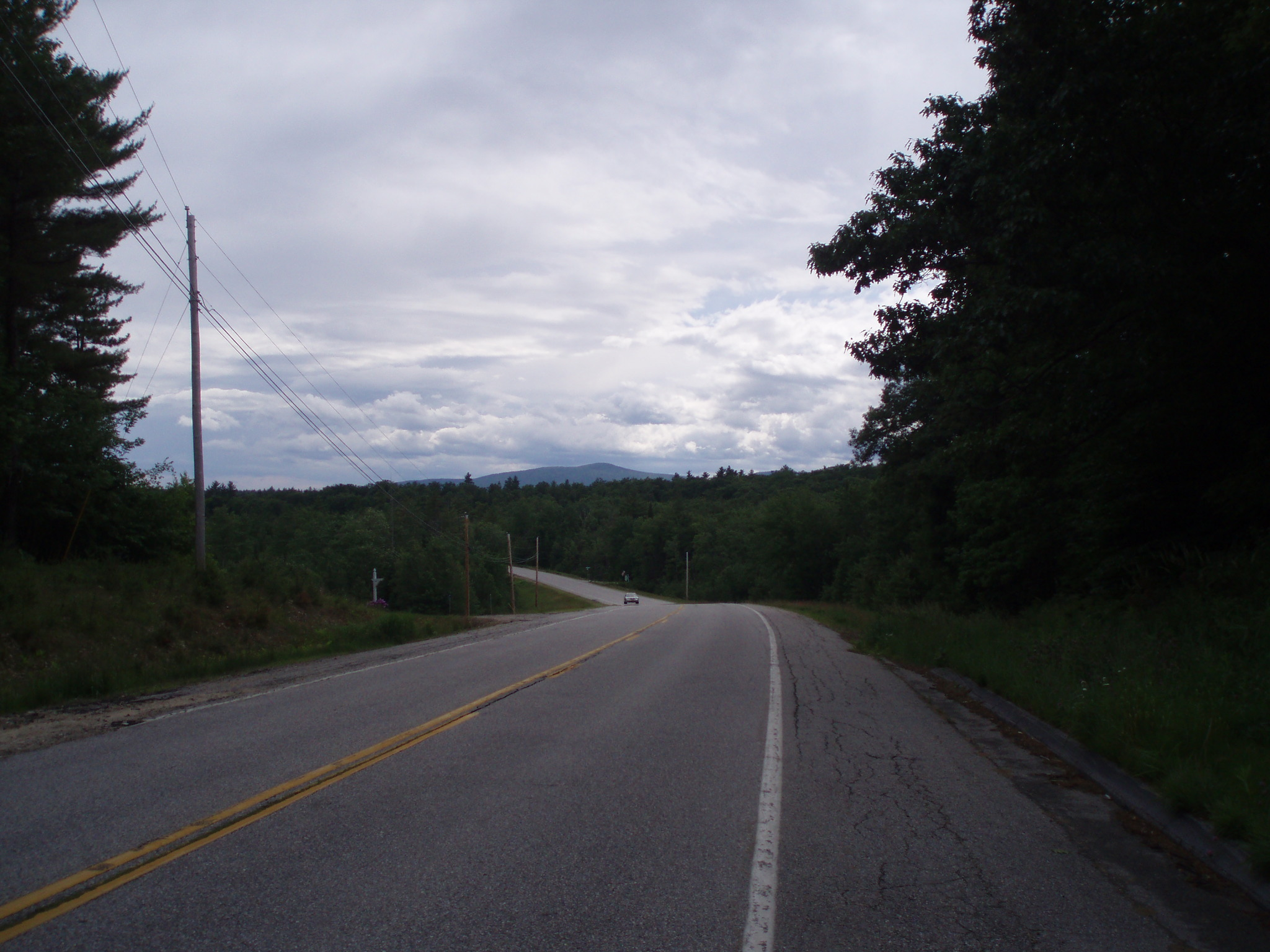 the road we took on our cross country bicycle tour