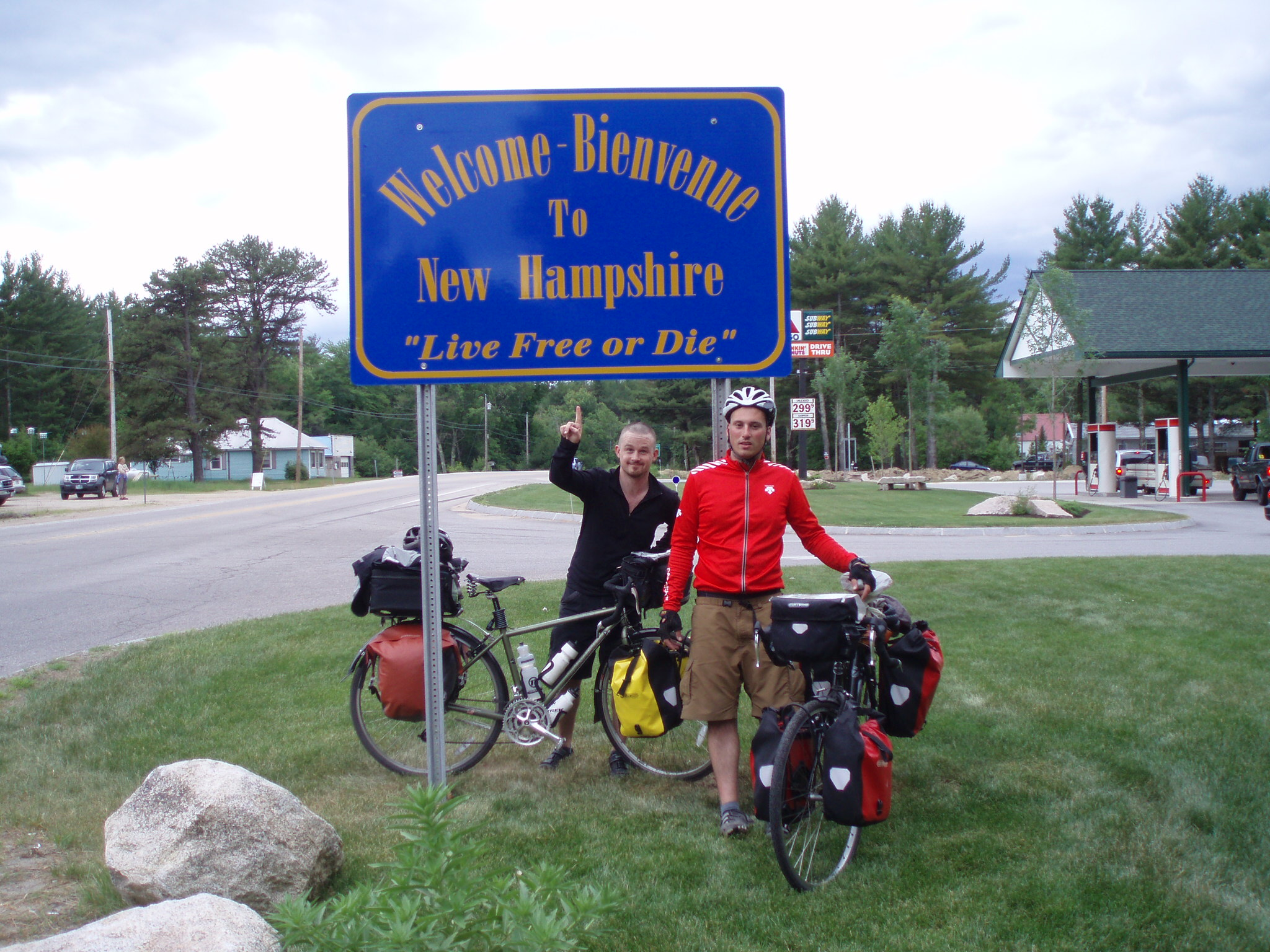 sign board welcoming us on our next destination for our bike tour