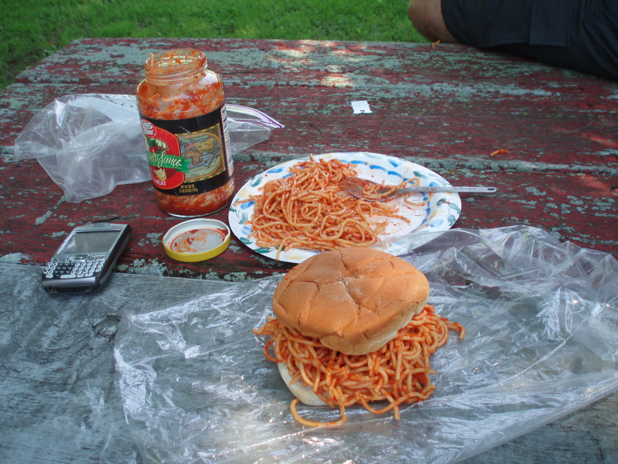 spaghetti sandwiches and bicycle touring