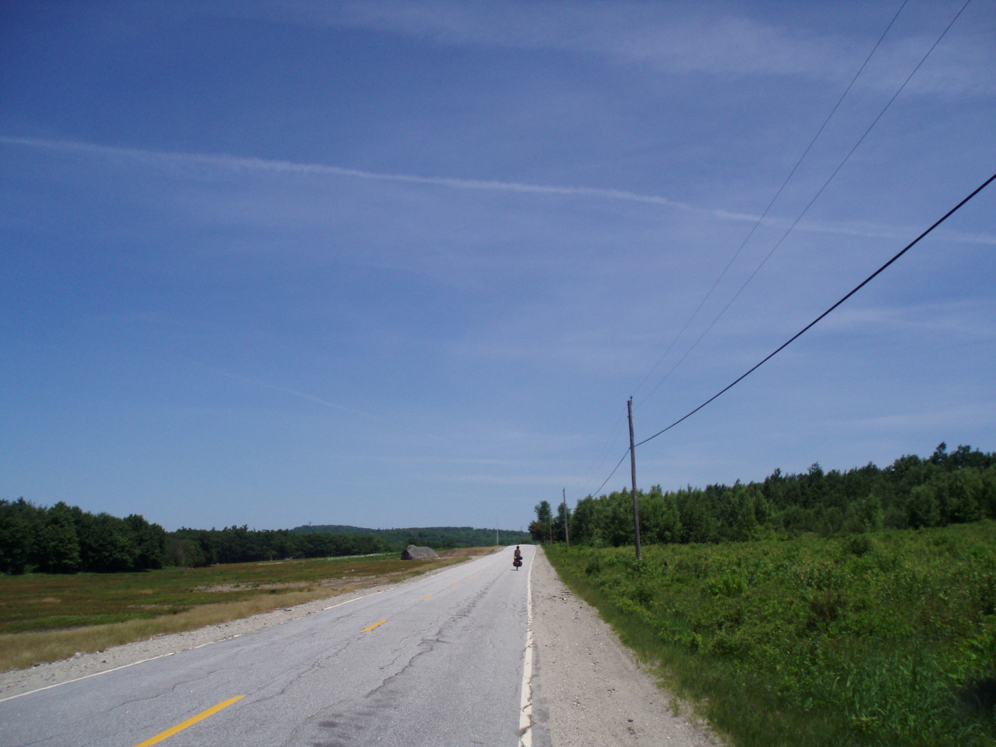 the road we took on our 3rd of our Cross Country bike tour