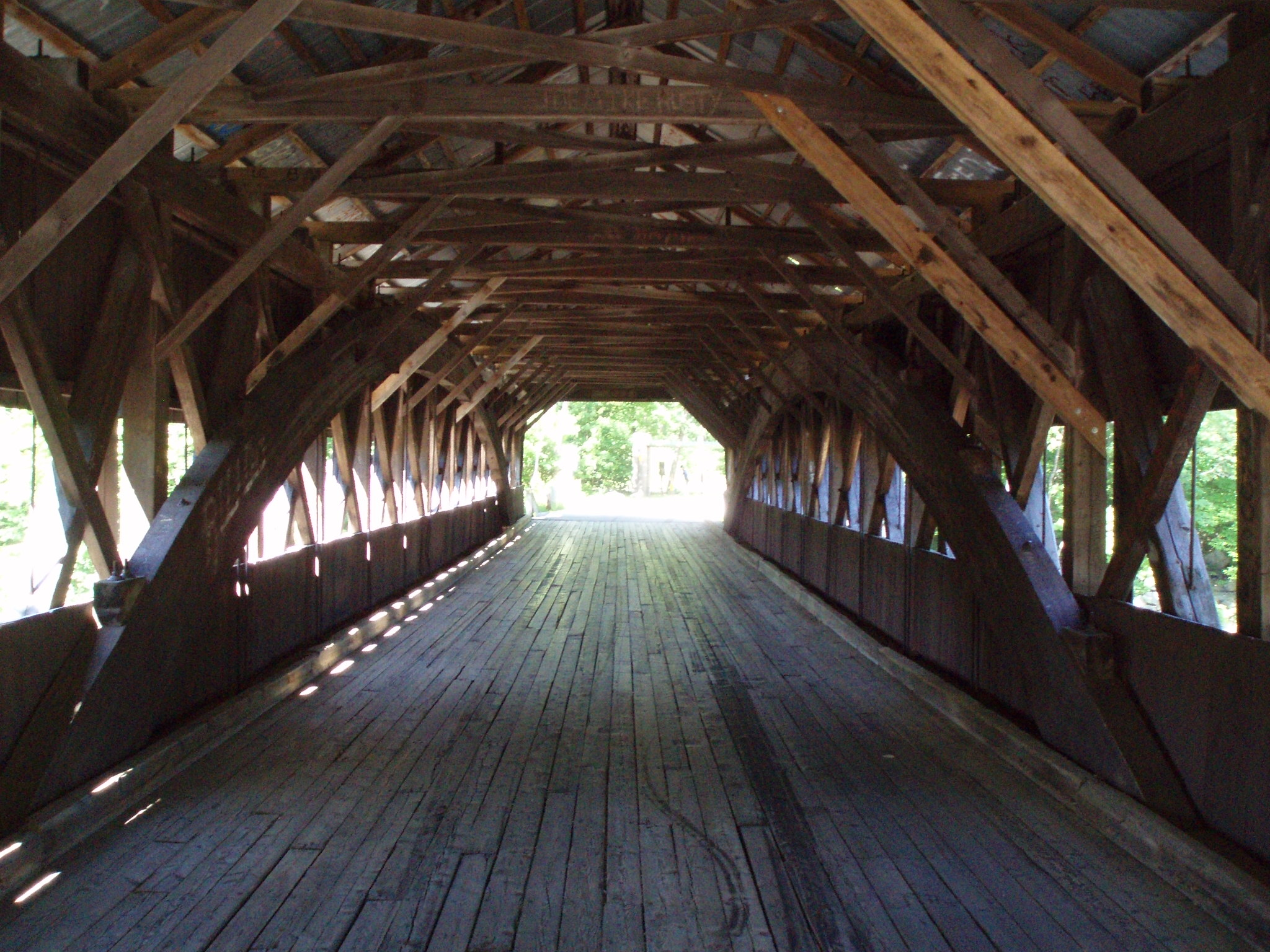 Wooden Bridge, Coast to Coast Bicycling