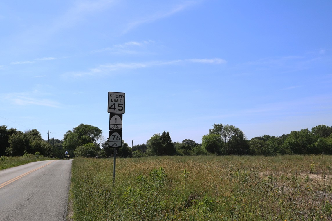 Road signs during the 2nd day of his 2016 Coast to Coast Bike ride